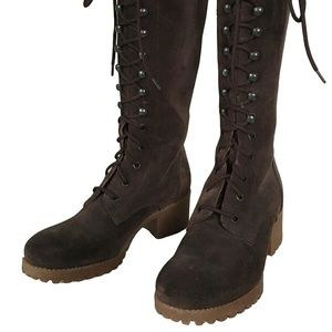 J.Crew 6.5 Brown Suede Military Lace Up Boots